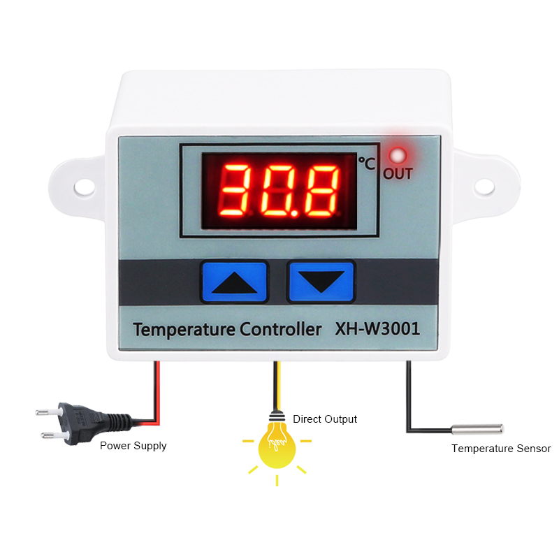 HTB1pOSAqYSYBuNjSspfq6AZCpXa8 10A 12V 24V 110V 220VAC Digital LED Temperature Controller XH-W3001 For Incubator Cooling Heating Switch Thermostat NTC Sensor