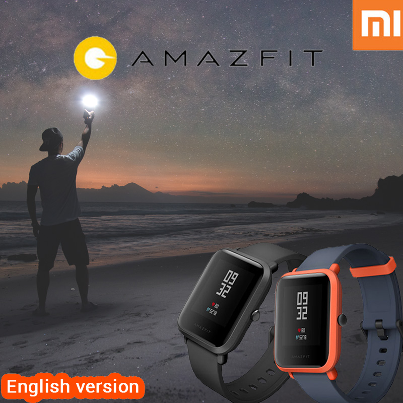 English version font b xiaomi b font huami amazfit bip smart watch amazfit pace Heart Rate