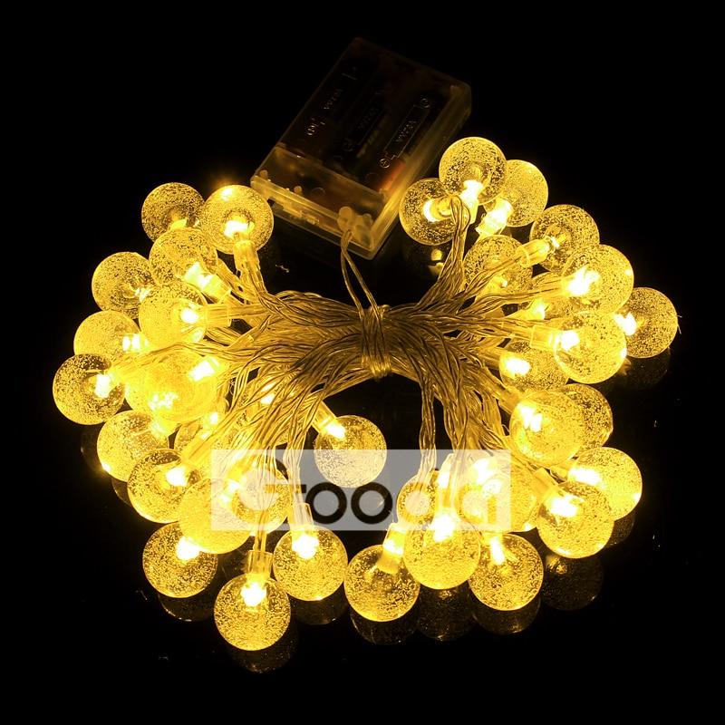 Lumières de Noël de batterie 175 pouces 40 LED guirlande lumineuse - Éclairage festif - Photo 6