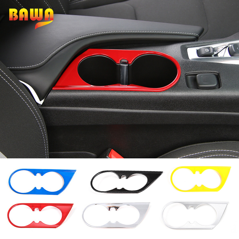 HANGUP ABS 6 Color Car Front Cup Holder Decoration Cover Interior Stickers For Chevrolet Camaro 2017 Up Car Styling
