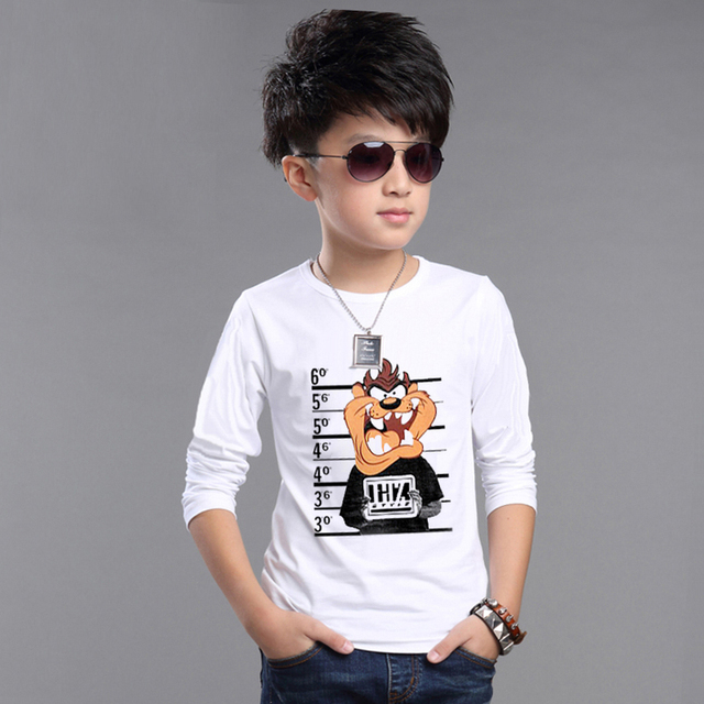 2016 new children clothing kids t shirts baby clothes boys spring autumn fashion character style long sleeve t shirts 2-8 Years