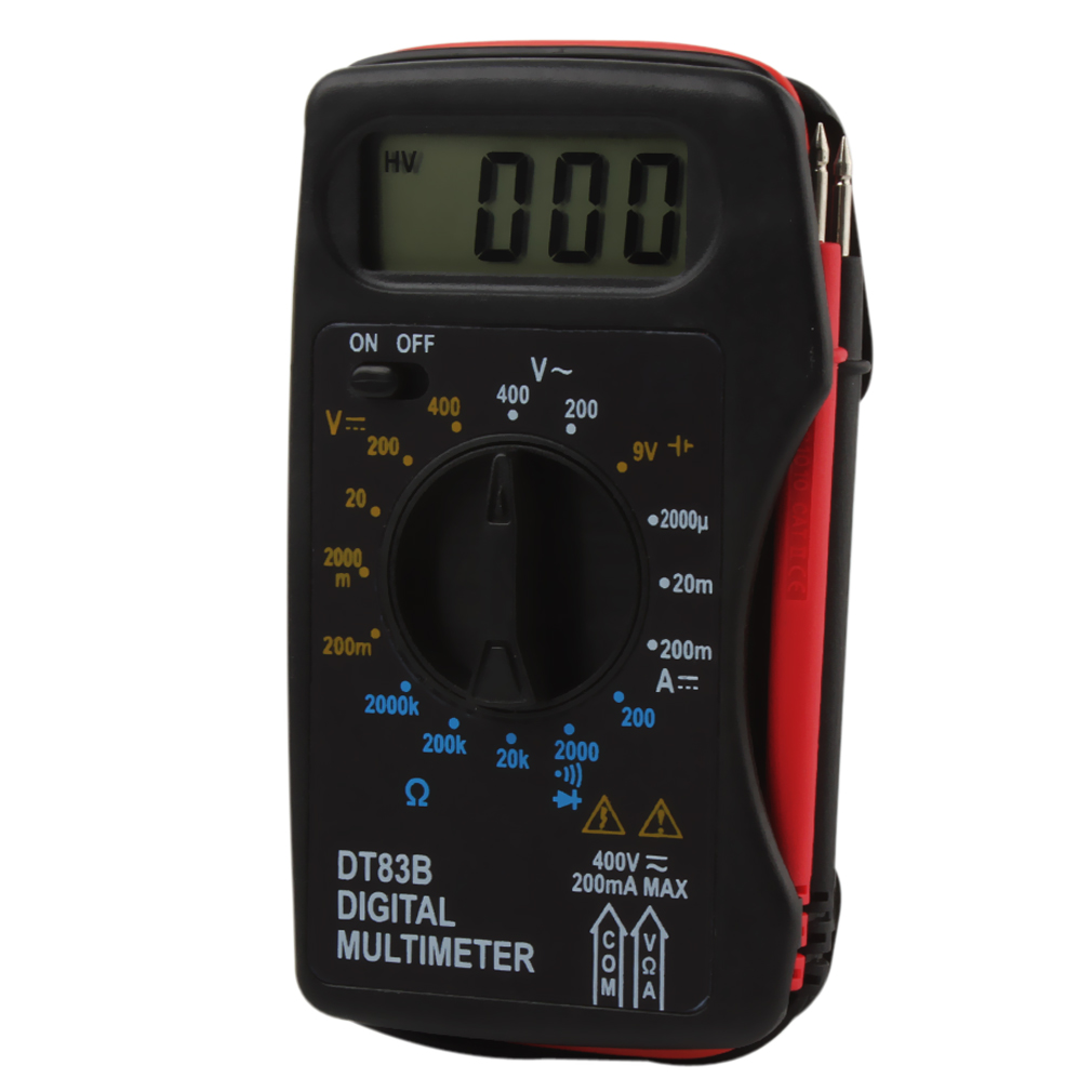 Portable DT83B Digital Multimeter with Buzzer DC / AC Ammeter Voltmeter <font><b>Resistor</b></font> <font><b>Ohm</b></font> Pocket Measuring Convenient Tool image