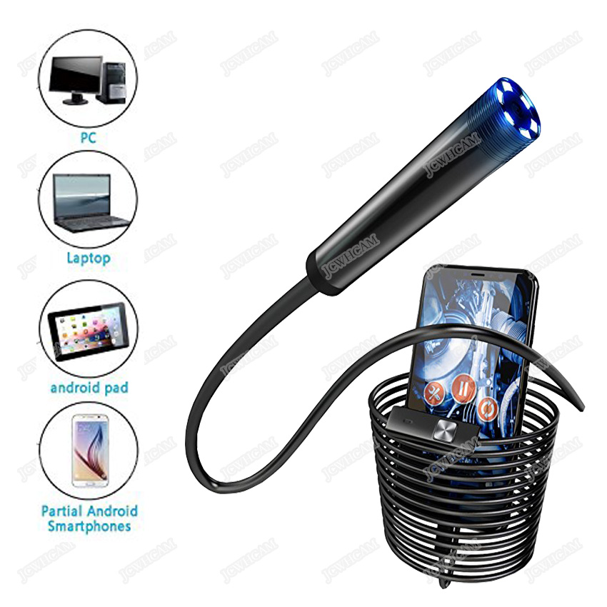 5,5/7/8mm Objektiv 1/1. 5/3. 5/5 mt 720 p Android USB Endoskop Kamera Flexible Snake USB Auto Reparatur Android Telefon Endoskop Kamera