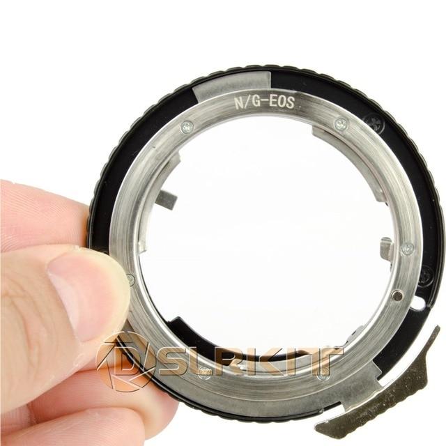 Adaptateur dobjectif pour objectif Nikon G AF S AI F et Canon EOS EF adaptateur de montage 650D 600D 550D 1100D 60D 7D 5D