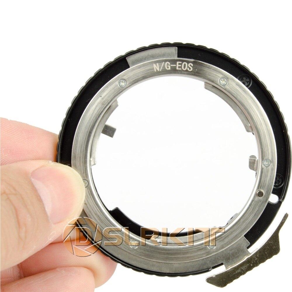 Anillo adaptador de lente para lente Nikon G AF-S AI F y adaptador de montaje Canon EOS EF 650D 600D 550D 1100D 60D 7D 5D