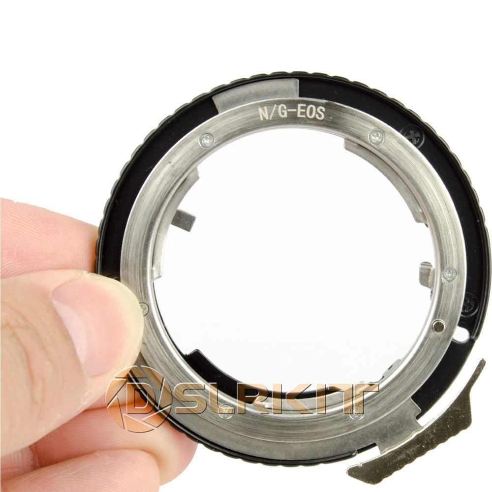 Adaptador de Anillo para Nikon F objetivos a Canon EOS EF 5D II 6D 7D 60D DC101