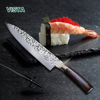 Sharp Knife 440c Quality 8 Inch Frozen Meat Cutter Chef Knife Kitchen Knife