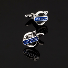 XK351 High quality copper material Volvo logo Cufflinks men business shirt accessories Volvo crazy promotion