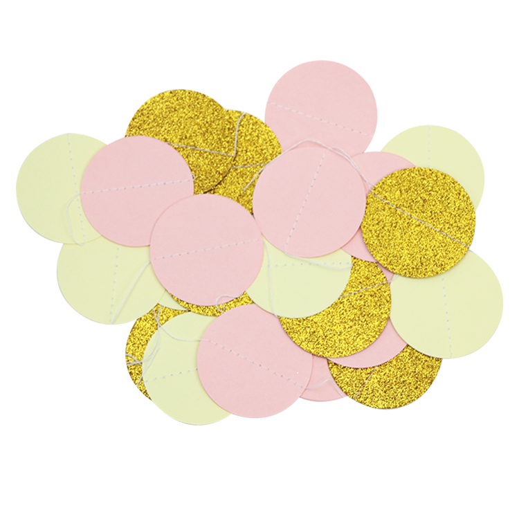 f13ac108ffa6 200pack Circle Dots Paper Party Garland Backdrop(2 Meter Long) Mint Pink  Cream White Gold Glitter for Party Wedding Decorations-in Party DIY  Decorations ...