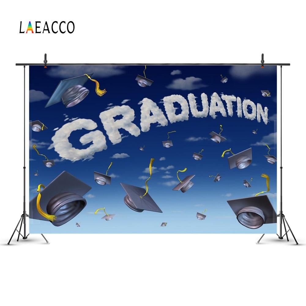 Laeacco Cartoon Sky licență de licență Graduation Fotografic - Camera și fotografia - Fotografie 2
