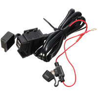 Hot Sale Safe Waterproof Motorcycle Bike Dual USB Power Socket Charger For Cell Phone 12V