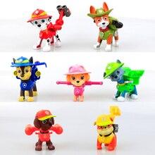 7 unids/set Patrulla de Cachorro de Perro de Juguete Para Niños Anime Figura de Acción de Juguete Figuras PVC Modelo Juguetes Del Perro de la Patrulla Patrulla Canina Juguetes