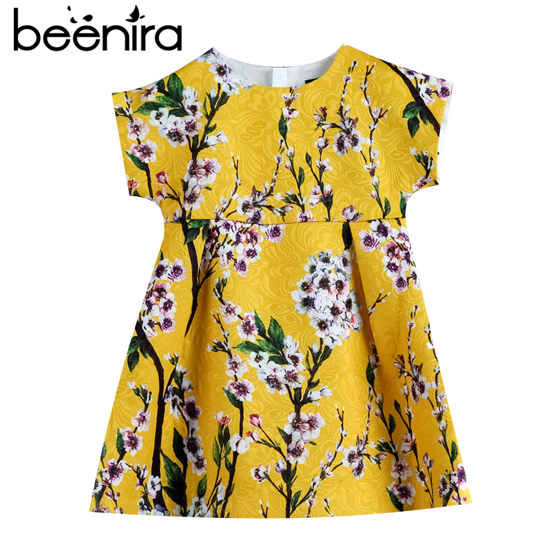 2017 Beenira Girls Summer Dress European And American Style Kids Short-Sleeve Flore Printed Party Dress Children Clothes Dresses2017 Beenira Girls Summer Dress European And American Style Kids Short-Sleeve Flore Printed Party Dress Children Clothes Dresses