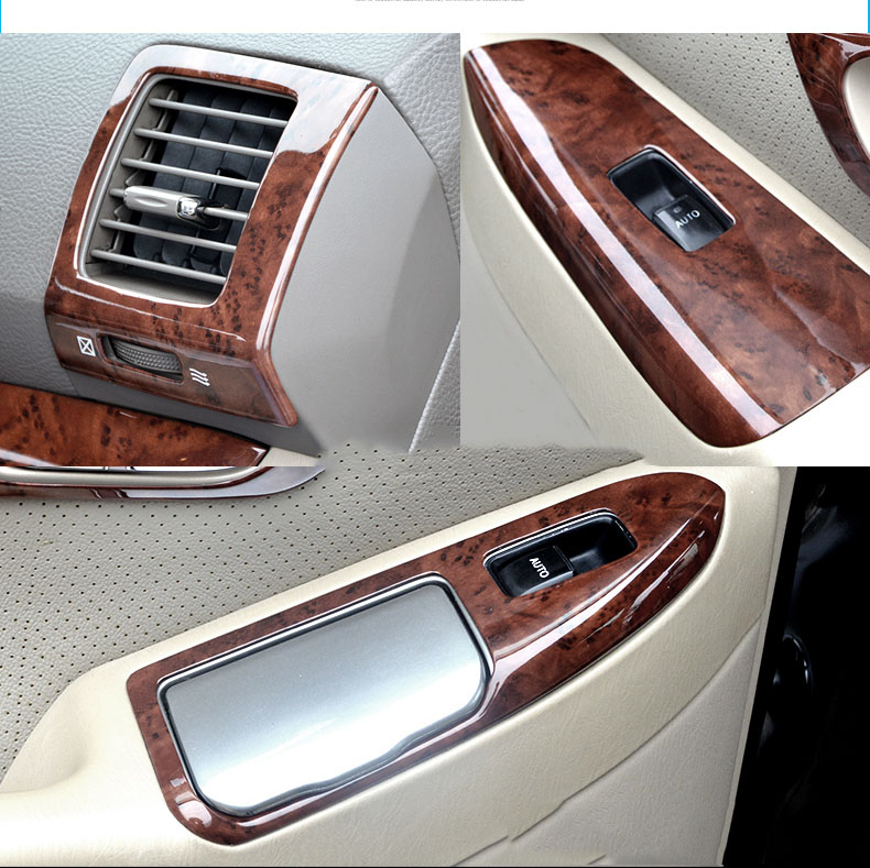 24 Pcs 3d Wooden Color Dash Board Cover Interior Mouldings For Toyota Land Cruiser Prado