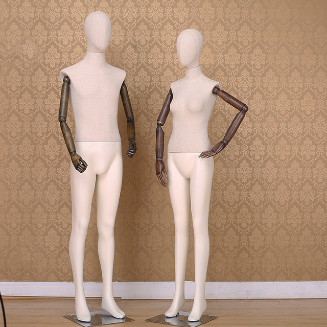 best quality full body man mannequins with wooden flexible arms