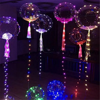 Air Bobo Balloon With String LED Flashing Lights 18 Round Bubble Wedding Bar Party Christmas Decoration