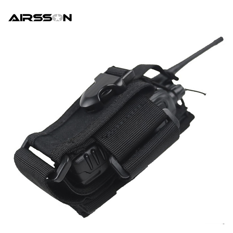 Tactical Military Walkie Talkie Waist Bag Holder Waterproof Nylon Molle Phone Bags Portable Hunting Pouch 3 Color iman i6 walkie talkie 4 7 inch ip68 rugged phone waterproof android4 4