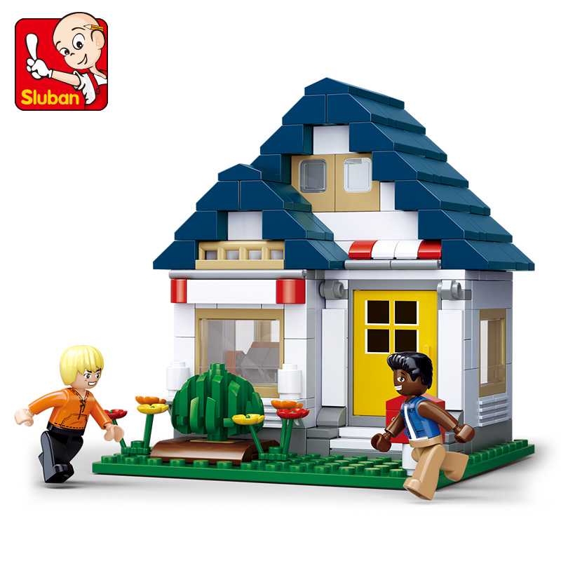 Sluban B0569 204Pcs My Gym SimCity Large Scene Building Blocks Girls Enlighten Blocks Educational DIY Bricks Toy For Children