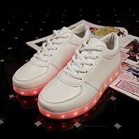 7 ipupas сияющий световой женская обувь со светодиодами для мальчиков и девочек с легкой подошвой малыш загораются кроссовки со светодиодной подсветкой с USB зарядка унисекс серебряные светящиеся кроссовки