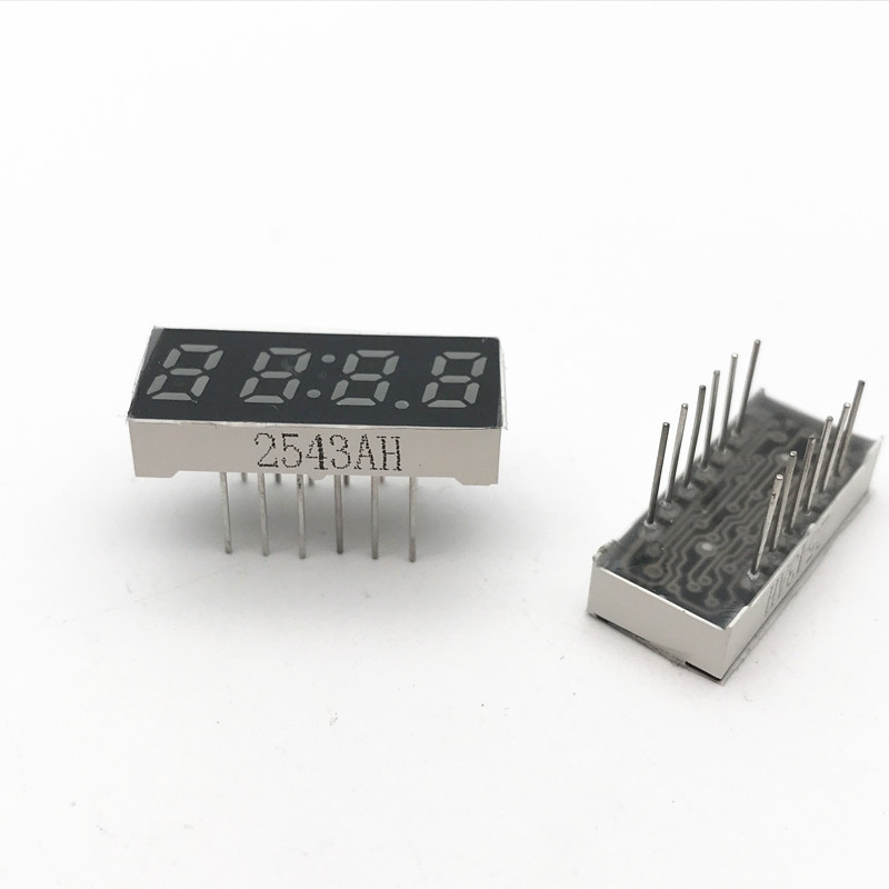 10PCS x 0.25 inches Red/Yellow green With Clock Common Cathode/ Anode 4 Digital Tube LED Display Module