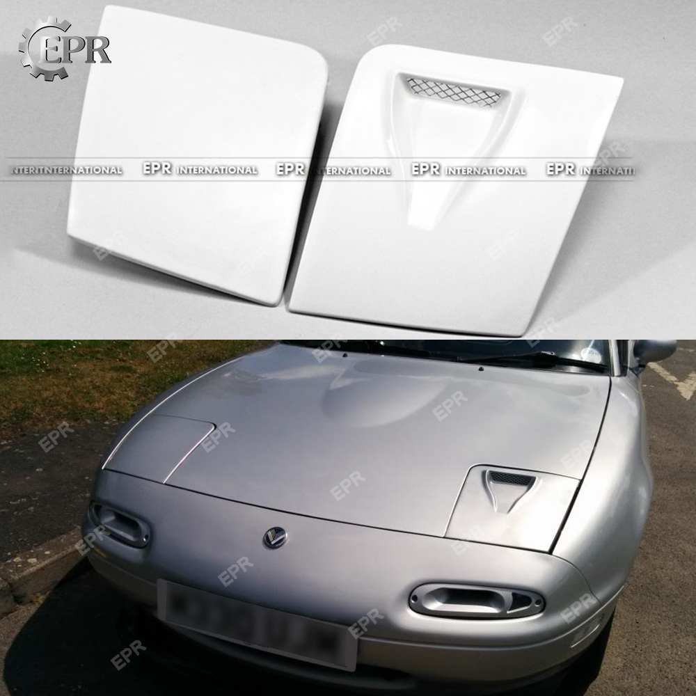 For <font><b>Mazda</b></font> MX5 <font><b>NA</b></font> FRP Glass Fiber LHS Vented Headlight Cover (Only LHS) Tuning Part Trim For Miata MK1 Fiberglass Air Intake Duct image