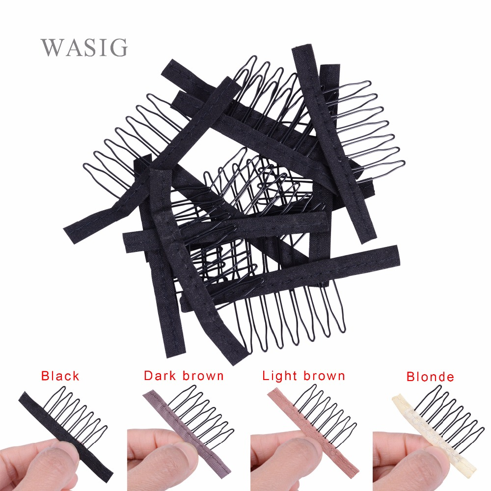 Humor 10-100pcs Useful Wigs Cap Accessories Hair Clips For Weaves Wig Combs Clips For Lace Hair 7 Thooth Convenient For Your Wig Caps Clips Tools & Accessories