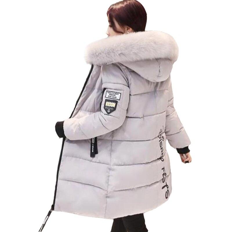 2019 frauen winter verdicken warme mantel weibliche herbst mit kapuze baumwolle pelz plus größe grundlegende jacke oberbekleidung schlanke lange damen chaqueta