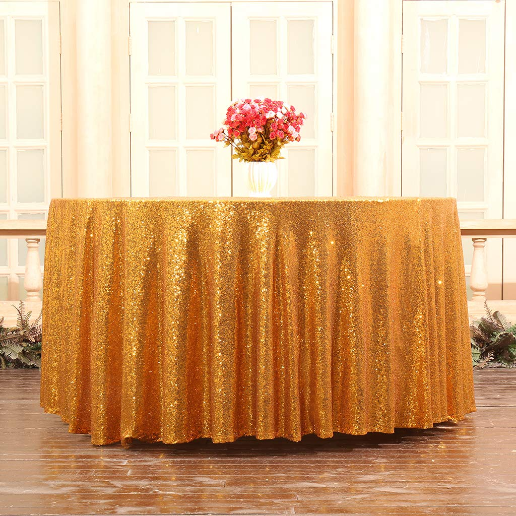 Glitter Round Tablecloth Sequin Table Cloth Gold Table Cloths Wedding Table Cloth Embroidered Party Celebrate Wedding Decoration in Tablecloths from Home Garden