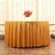 Glitter Round Tablecloth Sequin Table Cloth Gold Table Cloths Wedding Table Cloth Embroidered Party Celebrate Wedding Decoration цена