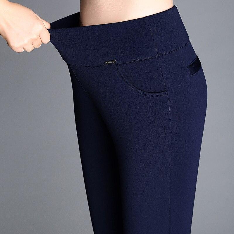 Winter Europe US Women Warm Leggings Skinny Slim Fleece Thick Velvet Pants High Waist Elastic Lady Red Blue Casual Long Trousers in Leggings from Women 39 s Clothing