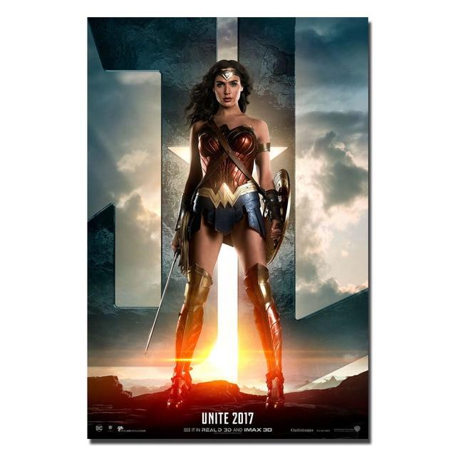 Плакат Гобелен Материал Шелк Чудо женщина модель 3
