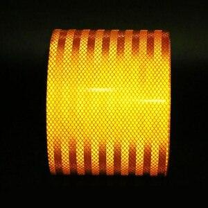 Image 3 - 3 m de alta qualidade reflexivo laranja cinto auto super grade reflexivo adesivo laranja fita de advertência reflexiva