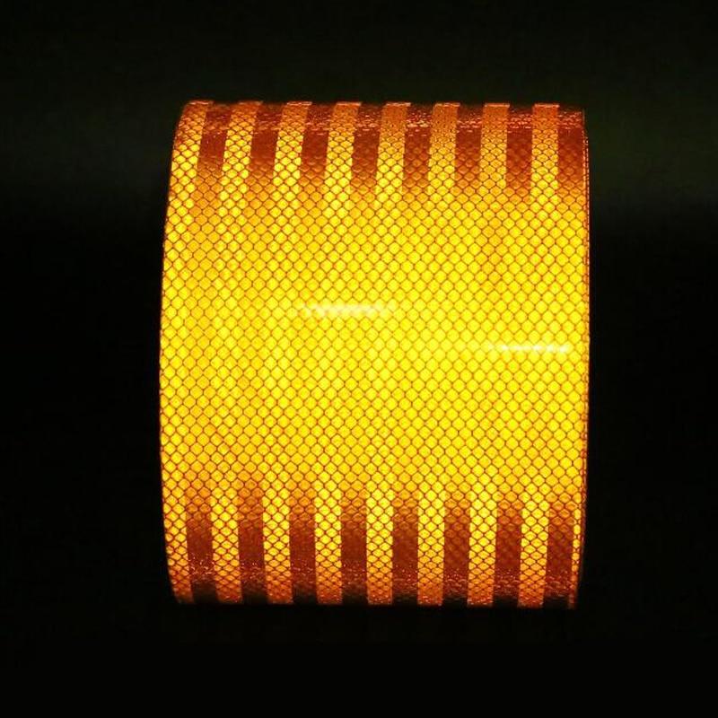 Image 3 - 3M High quality reflective orange belt Auto super grade reflective sticker orange reflective warning tapeReflective Material   -