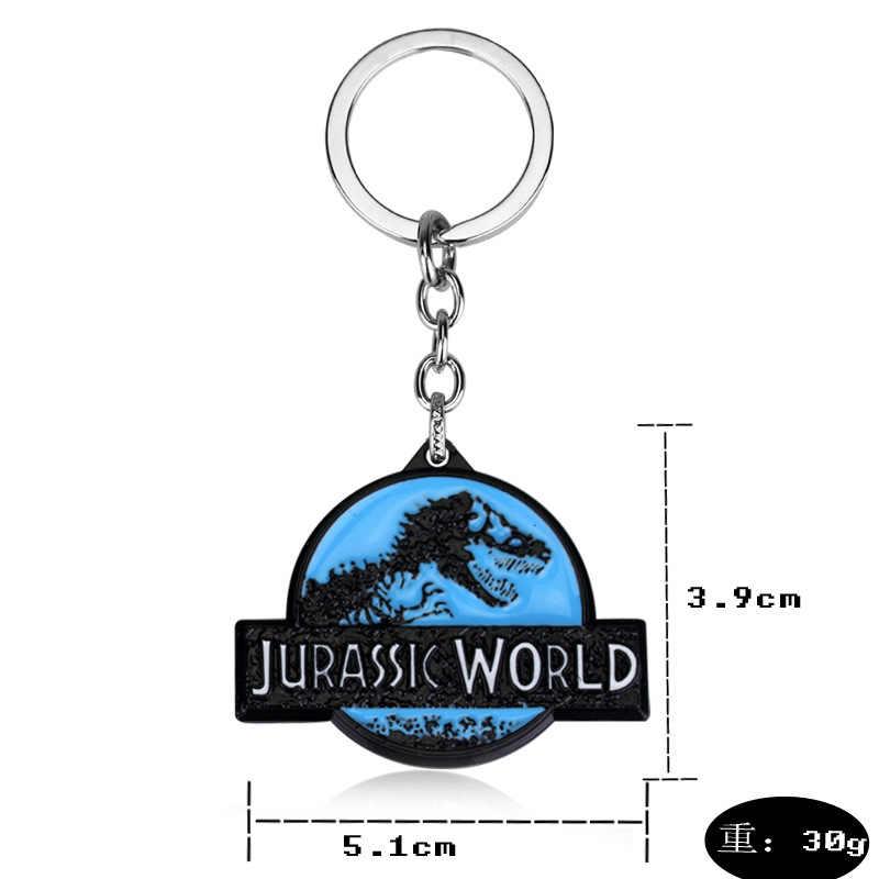 Hot Filme Jurassic Park Dinossauro Mundo Jurássico Pendente De Metal Da Corrente Chave Keychain Chave Anéis Presente Para Homem Mulher-50