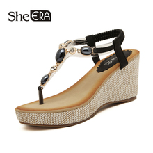 New Fashion Women Sandals Wedges Breathable Comfortable Crystal Classic Shoes She ERA