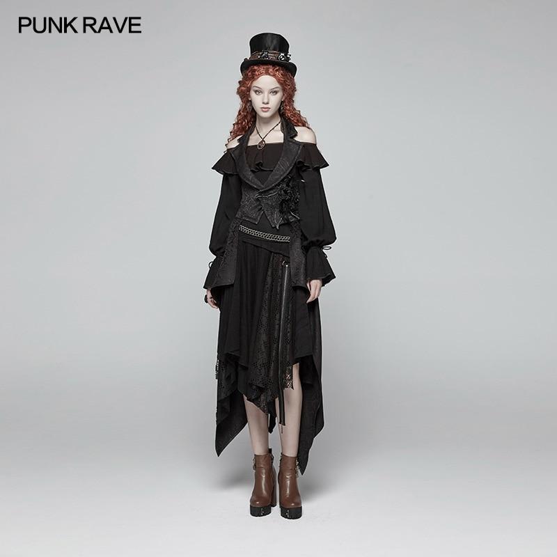 Vintage Backless Steage Manteaux Scène Noir Punk Victorienne Rave De Femmes Amovible Costumes Gothique Vestes Mode Et Longue 7T8Hvx