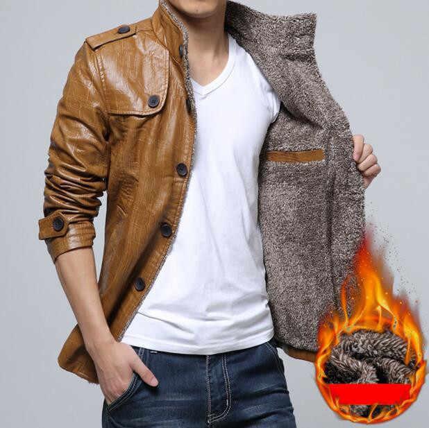 MRMT 2019 Брендовые мужские куртки Плюс вельветовое Стеганое пальто с отворотом для мужчин Повседневная Длинная кожаная куртка верхняя одежда Gar для мужчин t