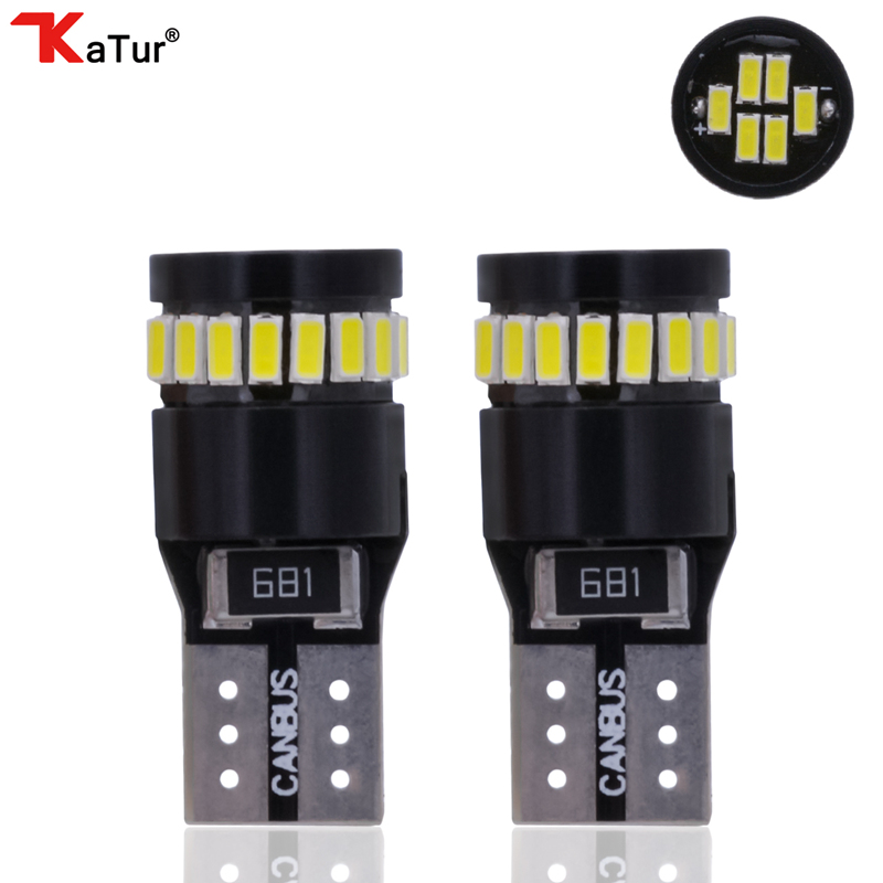 2X ERROR FREE White 24SMD LED For Ford License Interior Light Bulb 194 168 2825