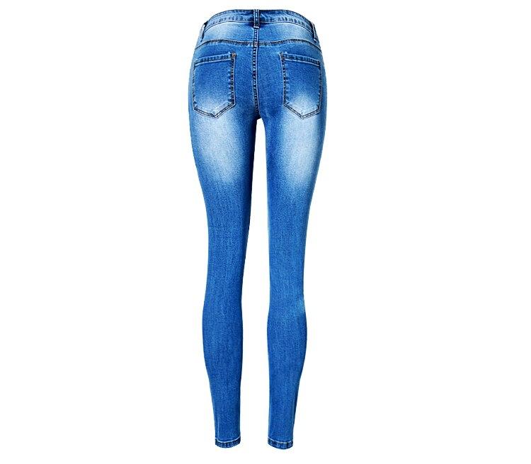 Ladies Vaqueros Mujeres Femenino Casual Skinny Azul Ripped Baja Denim Cintura Pantalones Novio Agujero Cool 2018 Para Chica Vintage txIawYng