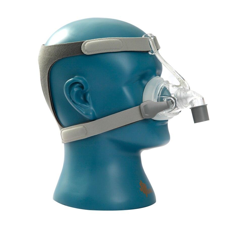 BMC NM4 maska nosowa z nakryciem głowy i SML 3 rozmiar silikonowa poduszka żelowa dla CPAP i Auto CPAP sen chrapanie bezdech zdrowie i uroda
