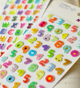 South Korea FUNNY mobile phone Jelly stickers Children Numbers and English Letters Alphabet diary stereo funny Stickers|stickers children|stickers funnystickers stickers - AliExpress