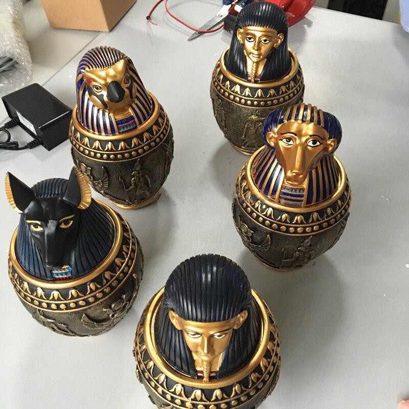 Livraison Gratuite Quatre egypte pot accessoires Takagism jeu prop réel vie room escape jeu props parti fournir