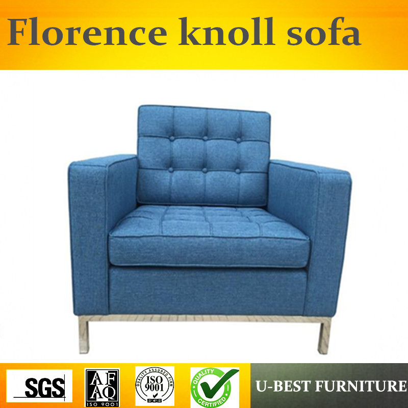 U-BEST High quality modern durable famous design comfortable leather knoll armchair,Replica one seat sofa