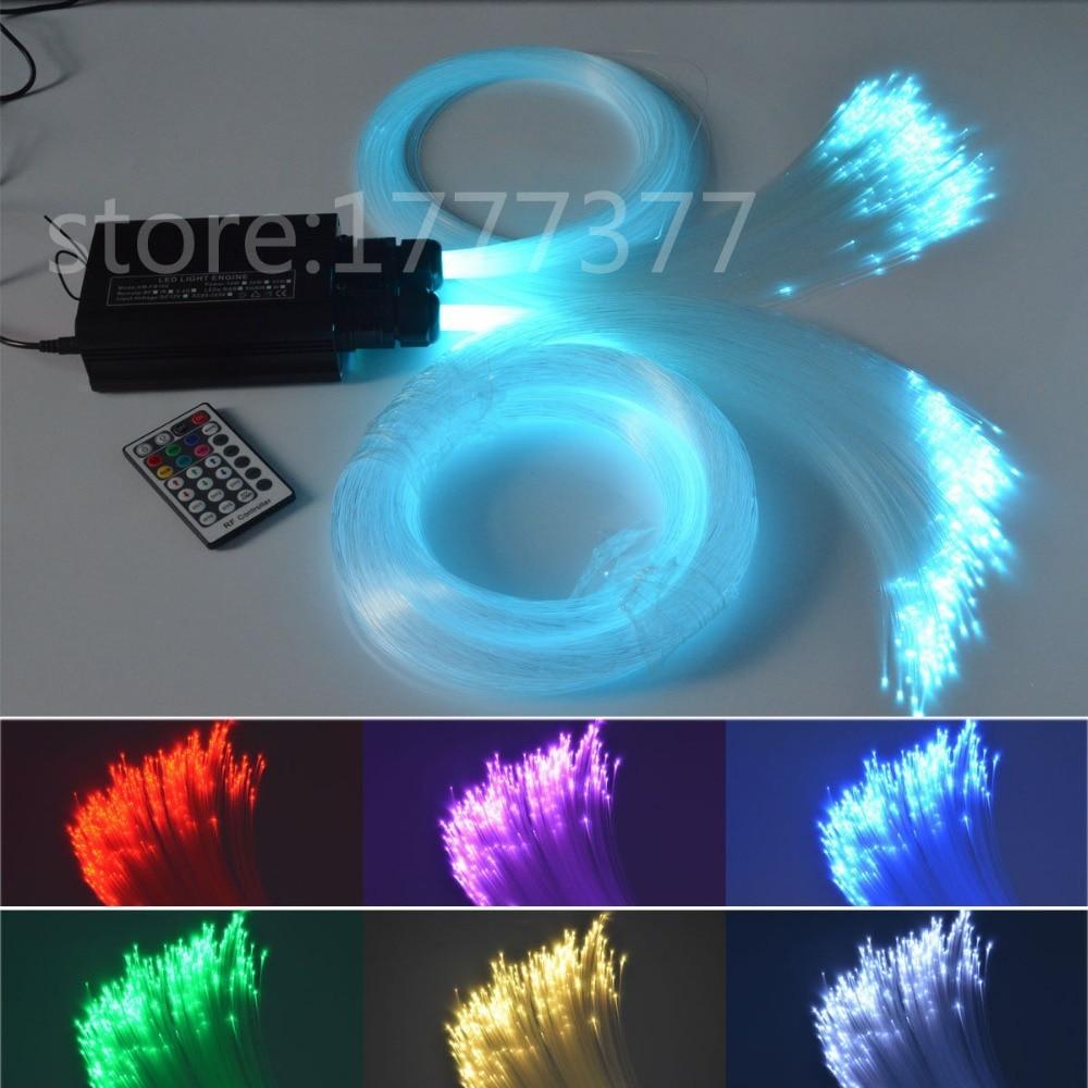 HA PORTATO In Fibra Ottica del soffitto della stella della luce kit 0.75mm * 150 pz + 1mm * 50 pz in fibra ottica 32 w sorgente di luce RGBW cielo stellato luci di soffitto