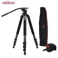 Miliboo mtt702a/b portable carbon Fiber tripod for professional camcorder / video camera / DSLR tripod, with hydraulic ball head