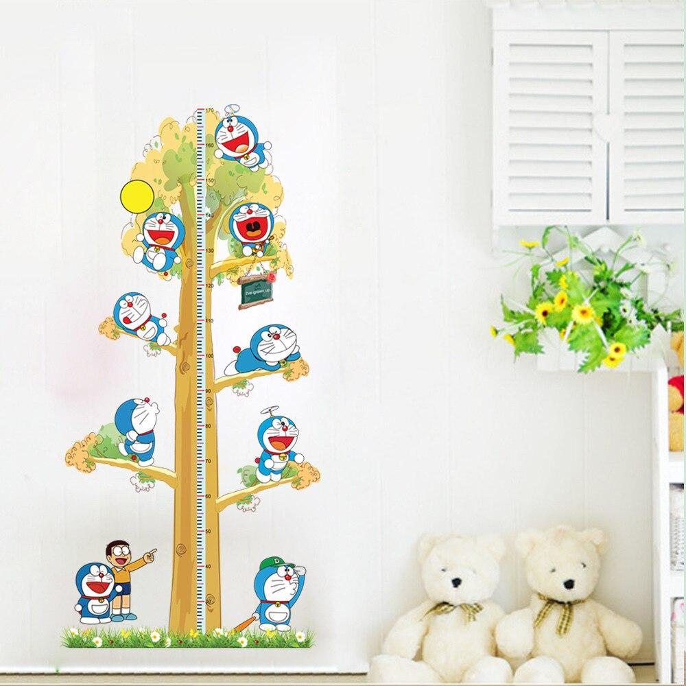 pcs doraemon creative diy kids height chart wall stickers home decor modernbaby nursery room wallpaper decal adesivo de paredein wall stickers fromhome . pcs doraemon creative diy kids height chart wall stickers home