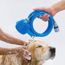 Pet Dog Bath Sprayers Tool Comfortable Massager Shower Tool Cleaning Washing Bath Sprayers Palm Dog Scrubber Sprayer Hand Mass aftermarket pump packing reapir kit 287 835 287835 for tool gh 833 sprayers