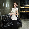 Sexy Women Satin Mini Qipao Cheongsam Chinese Vintage Style Party Club Dress Lady Casual Leisure Short Qipao S M L XL XXL
