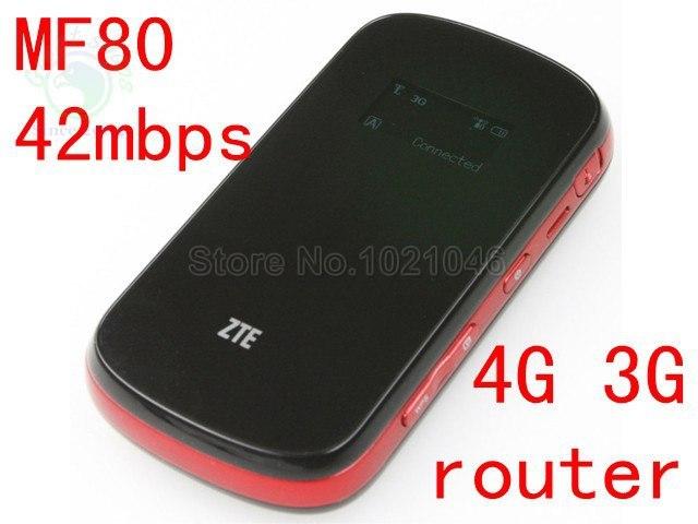 unlocked ZTE MF80 3g 4g wifi router 42mbps mobile hotspot 4g mifi dongle lte router pk mf60 mf63 mf90c mf90 mf910 mf95 mf96
