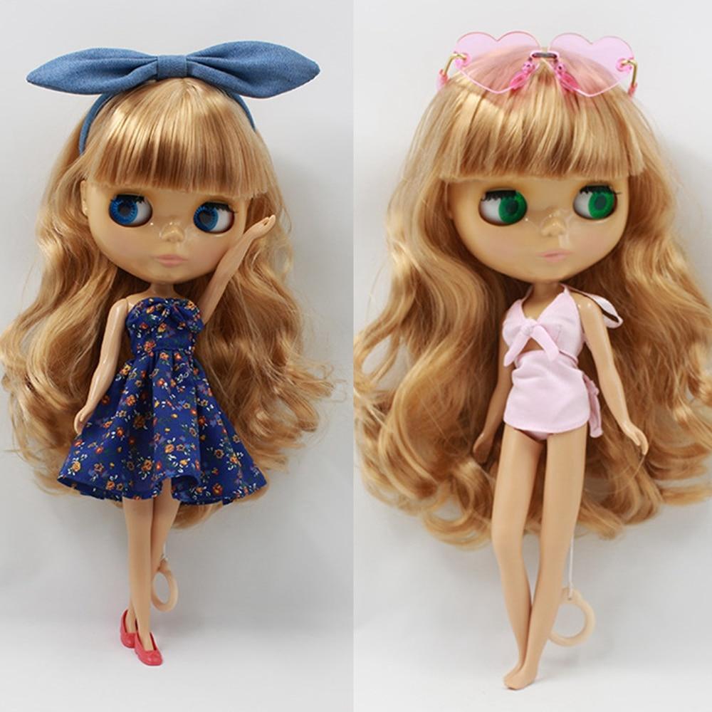 Free Shipping For Blyth Small Cloth Doll Clothes Print Dress Pink Bikini Azone 1/6 Eva Licca For Girl Christmas Gifts
